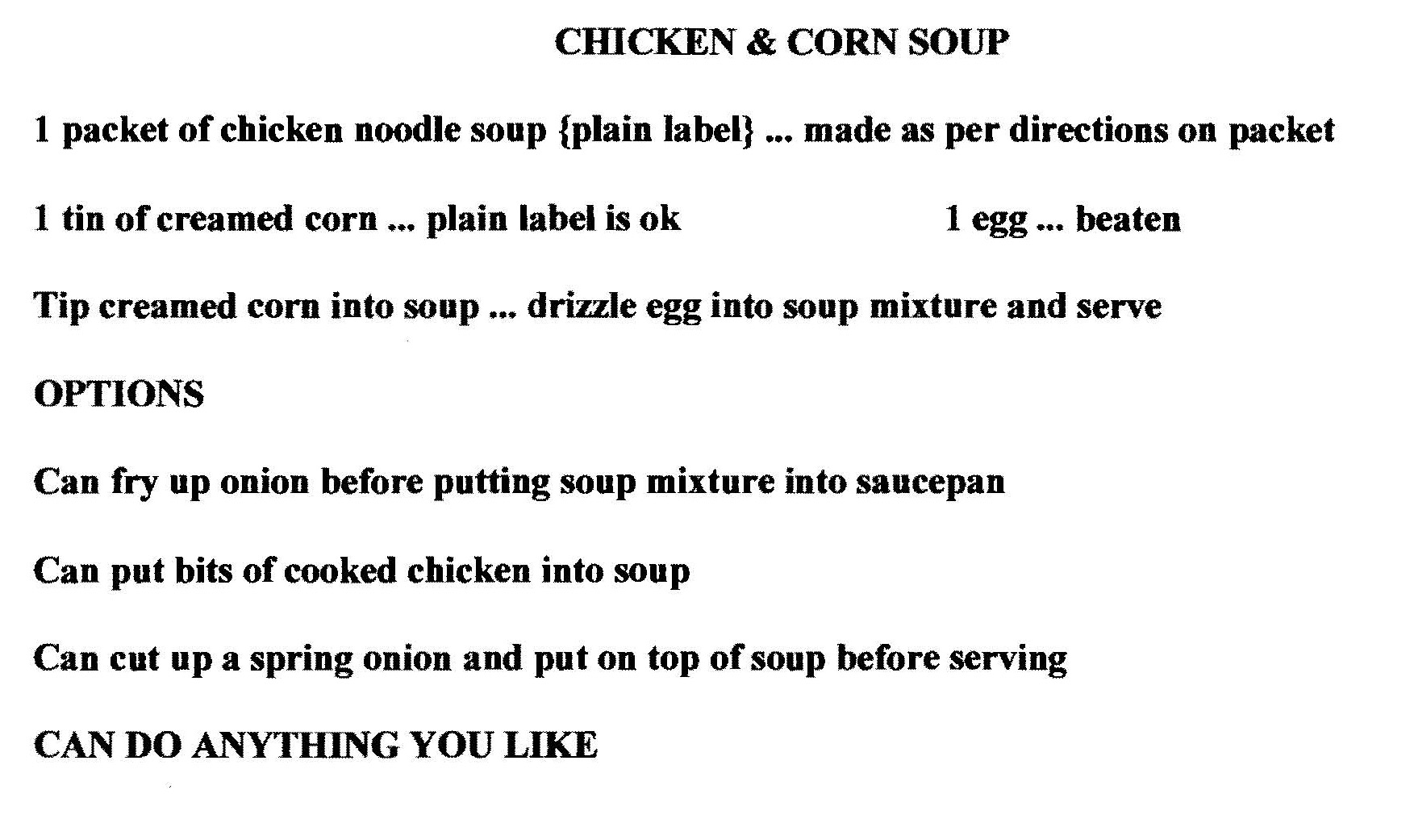Chicken & Sweet Corn Soup How To Make