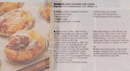 Rhubarb & Custard cup cakes