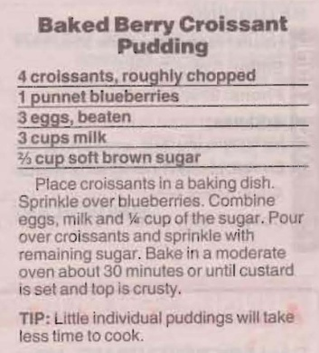 Baked Berry Croissant Pudding