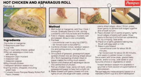 Chicken & Asparagus Roll