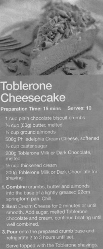 Toblerone Cheesecake Cropped