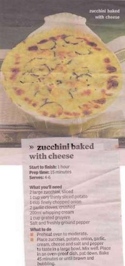 Zucchini baked with Cheese cropped