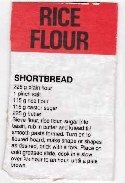 Shortbread - rice flour cropped