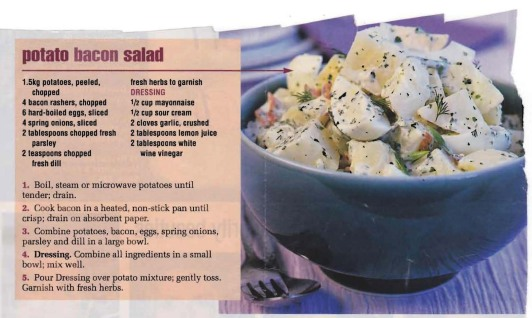 Potato & Bacon Salad Crop