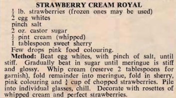 Strawberry Cream Royal