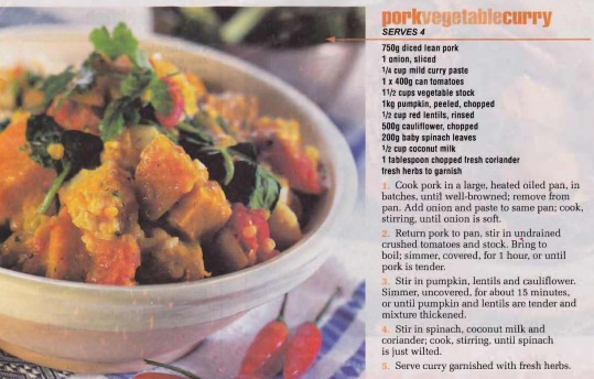 Pork Vegetable Curry