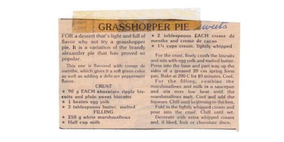 Grasshopper Pie 1