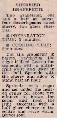 Sherried Grapefruit