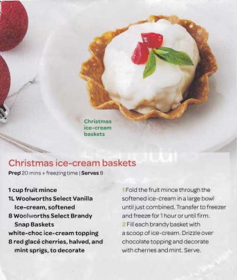Christmas ice-cream baskets