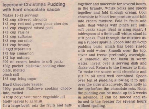 Frozen Icecream Christmas Pudding 1