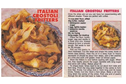 Italian Crostoli Fritters compile