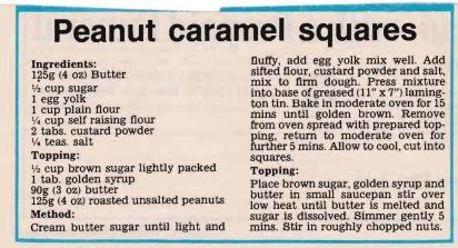 Peanut caramel squares