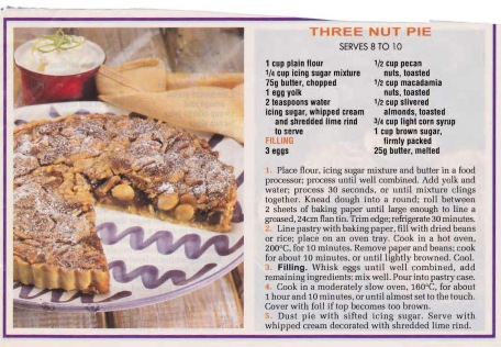 Three Nut Pie