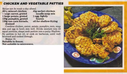 Chicken & Vegetable Patties