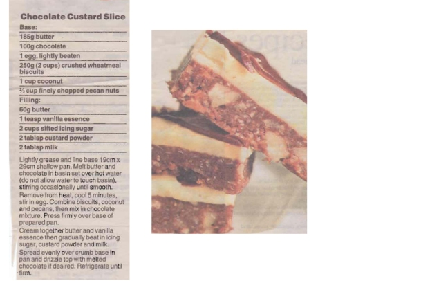 Chocolate Custard Slice compile