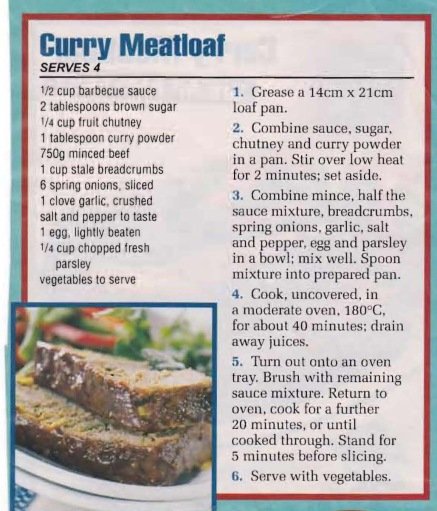 Curry Meatloaf