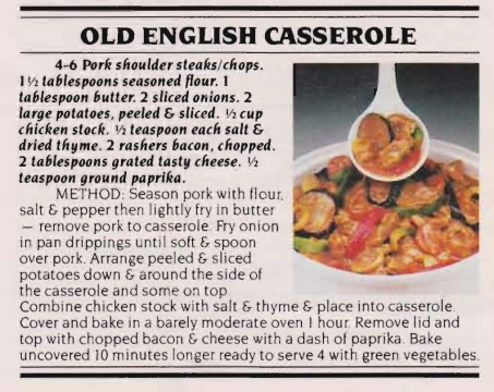 Pork - Old English Casserole