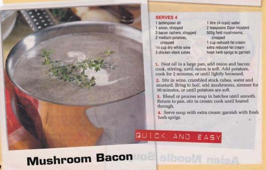 Mushroom  & Bacon soup