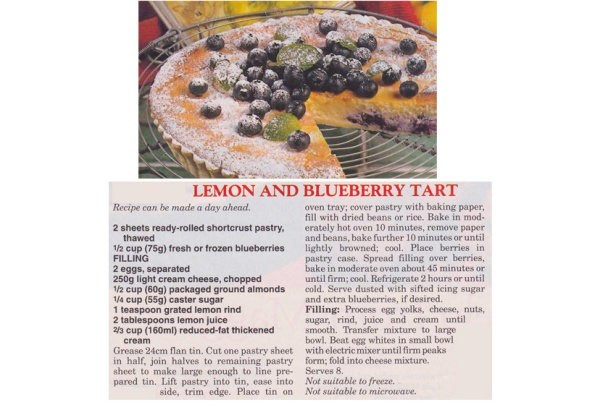 Lemon & Blueberry Tart