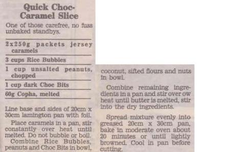 Quick Choc Caramel Slice Compile