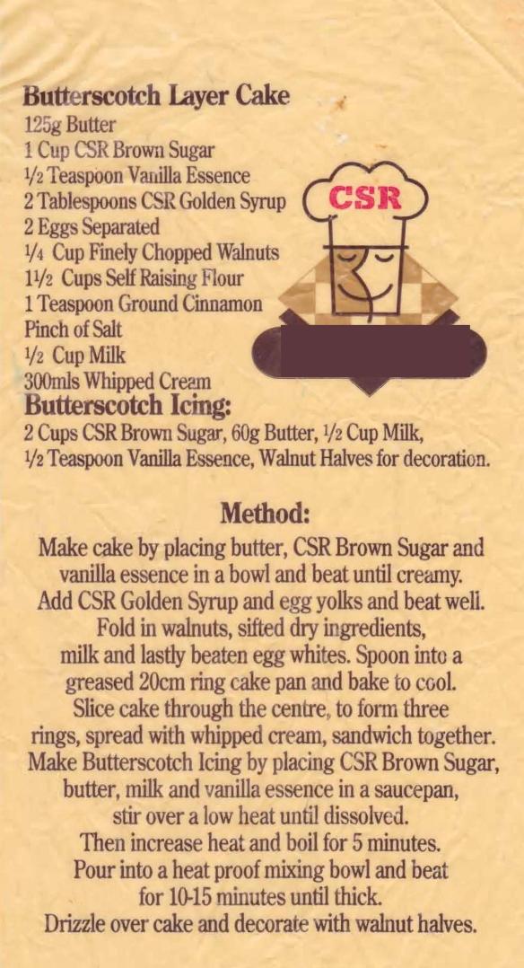 Butterscotch Layer Cake